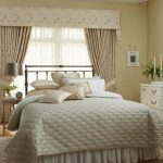 custom bedding and drapes with cornice